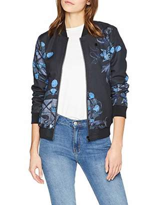 G Star Women's Deline Slim Bomber Jacket, Multicolour (Sartho Mazarine Blue AO 7181), Large