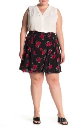 City Chic Rosie Posie Floral Skirt (Plus Size)