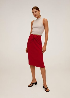 MANGO Knot pencil skirt