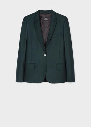 Paul Smith Women's Dark Green Wool Flannel Blazer