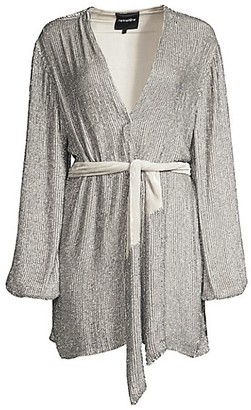 retrofete Gabrielle Sequined Wrap Robe