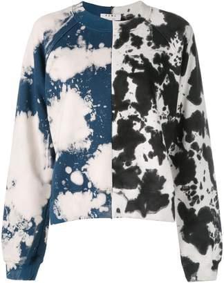 Proenza Schouler White Label PSWL Split Splatter Cropped Sweatshirt