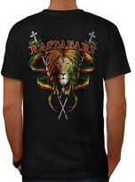 Rastafari Bob Marley Men XXXL T-shirt Back | Wellcoda