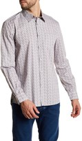 Kenneth Cole New York Long Sleeve Print Woven Modern Fit Shirt