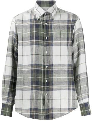 Brunello Cucinelli Straight-Fit Plaid Shirt