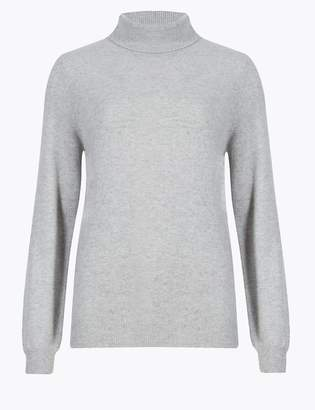 AutographMarks and Spencer Pure Cashmere Roll Neck Jumper