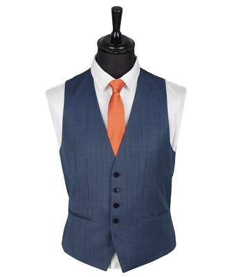 HUGO Vox 182 Pin Dot Waistcoat Colour: BLUE, Size: 38
