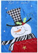 """Evergreen Let It Snow"""" Snowman Indoor / Outdoor Garden Flag"""