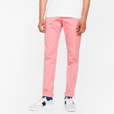 Paul Smith Men's Slim-Fit Pink Cotton-Twill Stretch Chinos