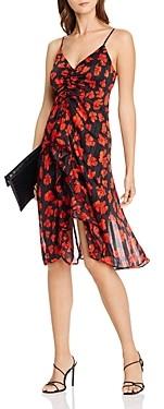 Aqua Ruffled Metallic Floral Dress - 100% Exclusive