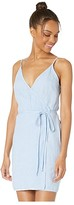 Bella Dahl V-Back Wrap Dress (Water-Front Blue) Women's Clothing