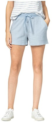 Lilla P Textured Waffle Shorts (Clearwater) Women's Shorts