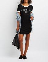 Charlotte Russe Feminist AF Ringer Dress