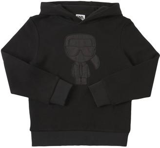 Karl Lagerfeld Paris Patch Cotton Sweatshirt Hoodie