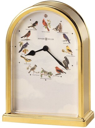 Howard Miller Songbirds III Classic, Transitional, Audubon Inspired, Chiming Mantel Clock with Corresponding Bird Songs