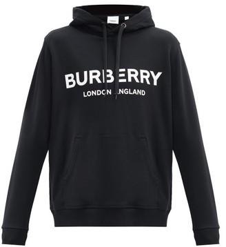Burberry Lexstone Logo-print Cotton Sweatshirt - Black
