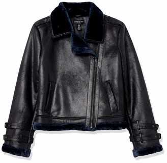 Kenneth Cole New York Kenneth Cole Women's Shearling Moto Jacket Outerwear