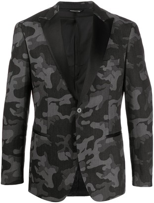 Tonello Camouflage Print Smoking Jacket