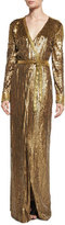 Diane von Furstenberg Ariel Armour Embellished Wrap Dress