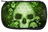Old Glory Halloween Cyber Space Alien Skull Makeup Bag Multi Standard One Size