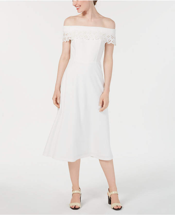 97d3c37a7e9 Calvin Klein White Fit   Flare Dresses - ShopStyle