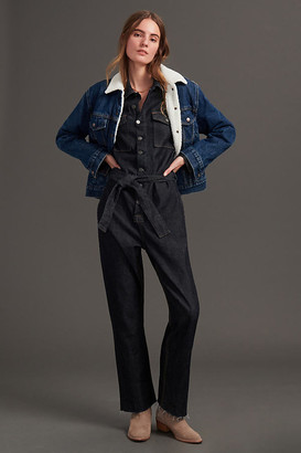 Boyish The Guy Slim Denim Jumpsuit By in Blue Size XS