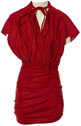 Magda Butrym Red Linen Dresses