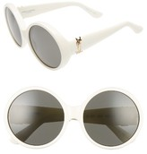 Saint Laurent Women's 60Mm Round Sunglasses - Grey/ Black