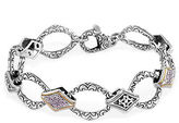 Effy Balissima Sterling Silver, Diamond and 18K Yellow Gold Bracelet
