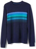 Gap Chest-stripes crew sweater