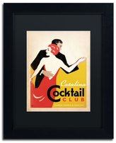 Trademark Fine Art Catalina Cocktail Club Black Matte Archival Paper Artwork by Anderson Design Group, 11 by 14-Inch, Black Frame