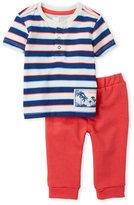 Petit Lem Newborn/Infant Boys) Two-Piece Stripe Tee & Sweatpants Set