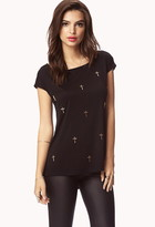 Forever 21 Cross Twisted High-Low Tee