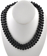 Barse Genuine Matte Onyx Wrap Necklace