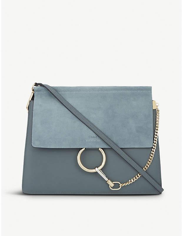 Chloé Faye leather & suede cross-body bag