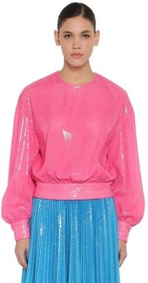 MSGM PM SEQUINED TECHNO SHIRT