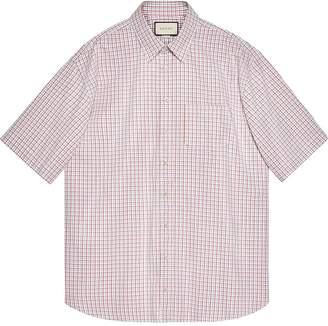 Gucci Oversize Oxford cotton shirt