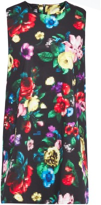 Love Moschino Floral-print Cotton-blend Mini Dress