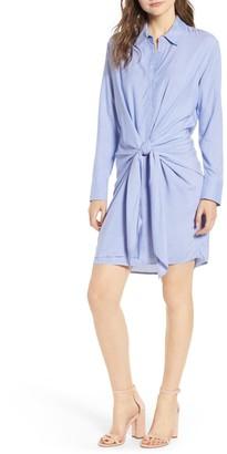 Socialite Knot Front Shirt Dress