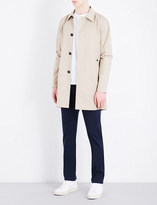 Sandro Single-breasted cotton-blend coat