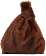 Simonetta Ravizza Furrissima Mink Fur Bag, Brown