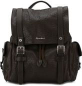 Santoni buckle fastening backpack - men - Leather - One Size