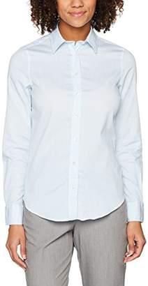 Gant Women's Tech Prep Striped Jaspé Shirt Pacific Blue, (Size: 36)