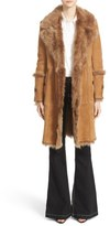 Burberry 'Northcole' Genuine Shearling Coat