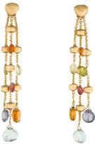 Marco Bicego 18K Multistone Paradise 3-Strand Earrings