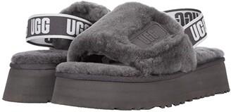 UGG Disco Slide (Dark Grey) Women's Shoes