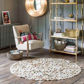 Graham and Green Dotty Round Cowhide Rugs