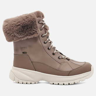 UGG Women's Yose Fluff Waterproof Leather Snow Boots - Caribou