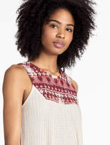 Lucky Brand Embroidered Yoke Tank
