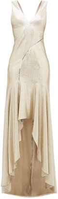 Galvan Pale Gold Releve Gown